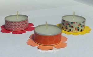 Washi Tape tealight candles, www.dazzledbystamping.com