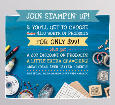Click to learn more on joining Stampin' Up!