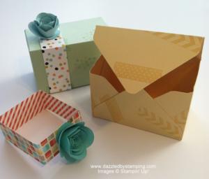 Envelope Punch Board, Spiral Flower Die, www.dazzledbystamping.com