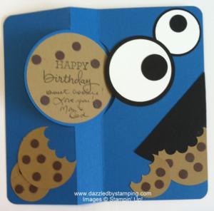 Me love cookieeeeeeeessss dazzled by stamping cased cookie monster flip card dazzledbystamping bookmarktalkfo Choice Image
