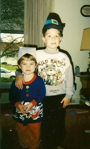 Tyler & Liz; his first year of kindergarten