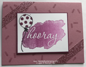 Reverse Words (SAB), Birthday Bright, Glimmer Paper Assortment (SAB), Rich Razzleberry Ombre pad, www.dazzledbystamping.com