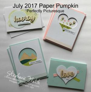 July 2017 Paper Pumpkin Kit, www.dazzledbystamping.com