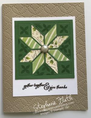 Christmas Quilt, Quilt Top folder, www.dazzledbystamping.com