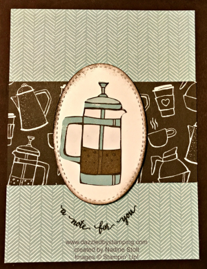 Eastern Beauty, Coffee Break DSP, Stitched Shapes framelits, www.dazzledbystamping.com