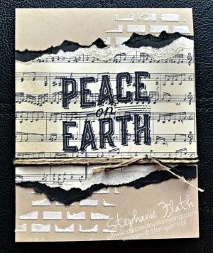 Carols of Christmas, Sheet Music, embossing paste, www.dazzledbystamping.com