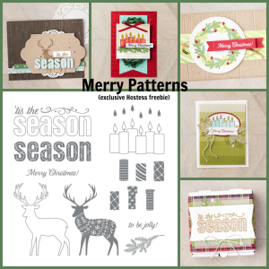 Merry Patterns set & samples collage, www.dazzledbystamping.com