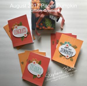 August 2017 Paper Pumpkin Kit, www.dazzledbystamping.com