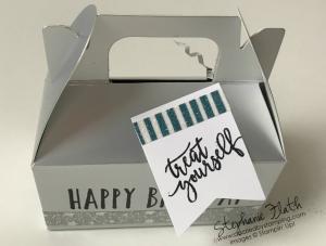 Perennial Birthday, Picture Perfect Birthday, Silver Mini Gable Boxes, Myths & Magic Washi Tape, www.dazzledbystamping.com