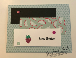 Tutti-Fruitti Cards & Envelopes (SAB), Fruit Basket, Party Pandas (SAB), www.dazzledbystamping.com