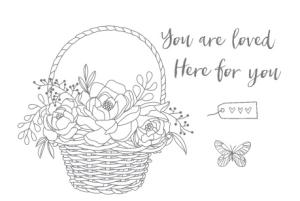 Blossoming Basket (SAB item = set + Basket Weave Dynamic Embossing Folder)