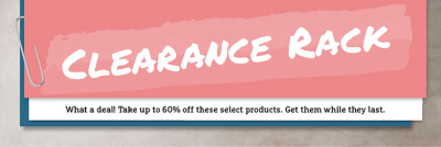 click to shop the Clearance Rack!