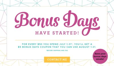 Click here to order! $5 BONUS for every $50