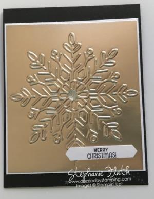 Winter Wonder embossing folder & Champagne Foil Sheets, www.dazzledbystamping.com