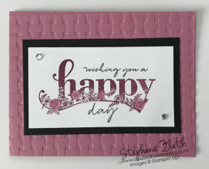 Happy Wishes (SAB), Basket Weave folder, www.dazzledbystamping.com