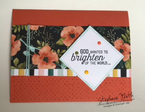 Flourishing Phrases (words), Timeless Textures (dots), Whole Lot of Lovely DSP, www.dazzledbystamping.com