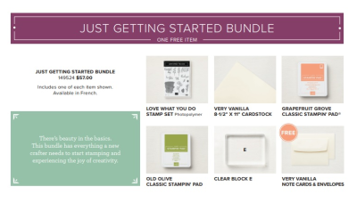 Just Getting Started (Share What You Love Bundle)