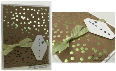 Vertical Greetings, Foil Frenzy DSP, Tailored Tag Punch, www.dazzledbystamping.com