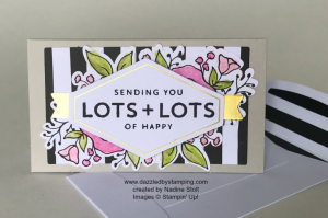 Lots of Happy Card Kit, stamped by Nadine Stolt, www.dazzledbystamping.com