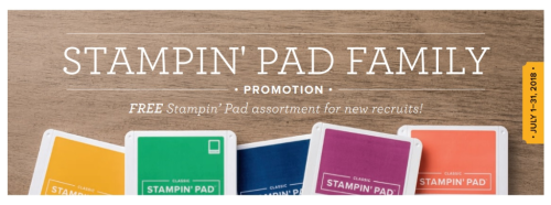 Stampin pad family promotion