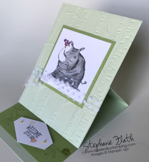 Easel Card with Animal Outing, www.dazzledbystamping.com