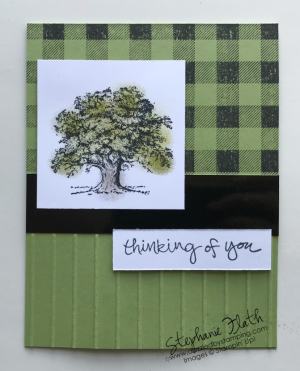 Buffalo Check, Lovely As a Tree, www.dazzledbystamping.com