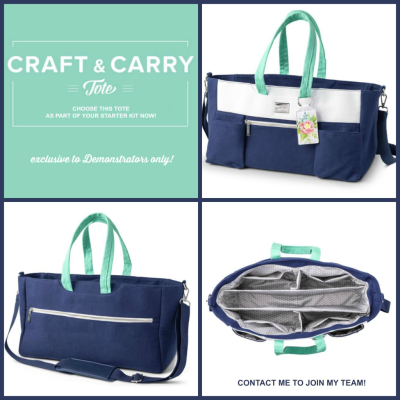 Craft n Carry Tote, available only to Stampin' Up! Demonstrators!
