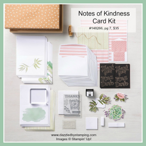 Notes of Kindness Card Kit, www.dazzledbystamping.com