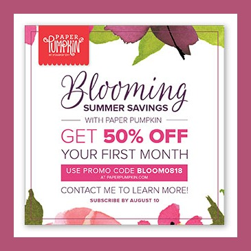 Blooming summer savings.HALF OFF paper pumpkin promo