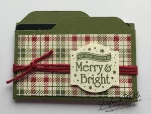 Envelope Punch Board, Christmas Traditions Punch Box, www.dazzledbystamping.com