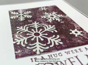 Beautiful Blizzard bundle, swap created by Deb McCahan, www.dazzledbystamping.com