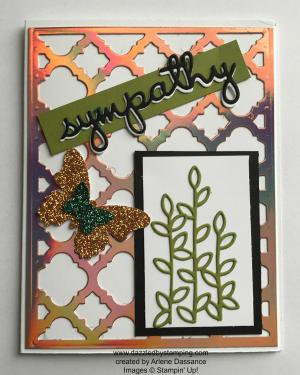 created by Arlene Dassance, www.dazzledbystamping.com