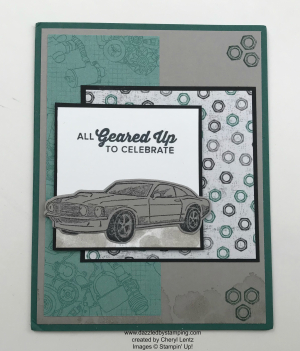 Geared Up Garage, www.dazzledbystamping.com