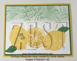 Lemon Zest & Large Letters Framelits, www.dazzledbystamping.com