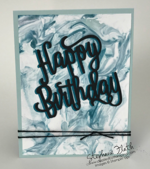 Happy Birthday Thinlits, www.dazzledbystamping.com