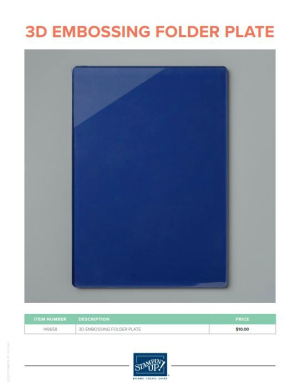3-D embossing folder plate