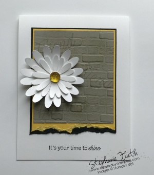 Daisy Lane bundle, Daisy Punch, Brick & Mortar 3D Embossing Folder, www.dazzledbystamping.com