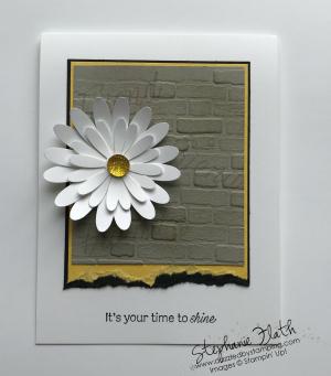 Daisy Lane bundle, Daisy Punch, Brick & Mortar 3D Embossing Folder, www.dazzledbystamping.com