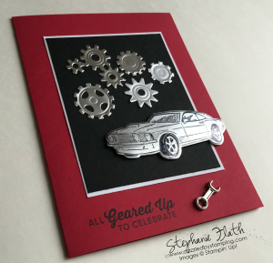 Geared Up Garage, www.dazzledbystamping.com