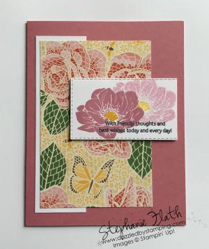 Floral Essence, Mosaic Mood Specialty DSP, www.dazzledbystamping.com