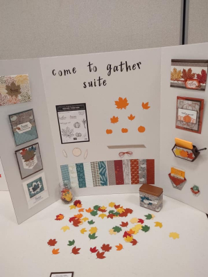 Crafting Retreat, Come to Gather display, www.dazzledbystamping.com
