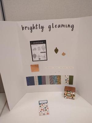 Crafting Retreat, Brightly Gleaming display, www.dazzledbystamping.com
