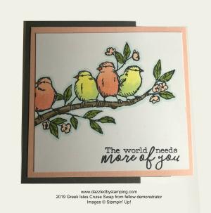Free as a Bird bundle, cruise swap received, www.dazzledbystamping.com