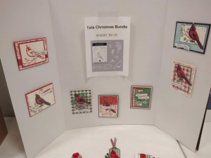Crafting Retreat, Toile Christmas Suite display, www.dazzledbystamping.com