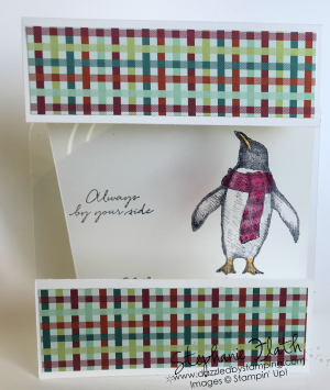 Playful Penguins, Come to Gather DSP, www.dazzledbystamping.com