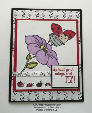 Little Ladybug, swap created by Shelly Peck, www.dazzledbystamping.com