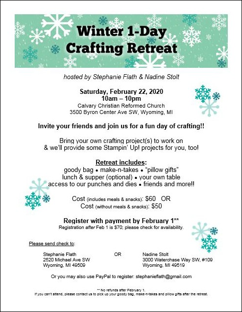 Winter 1-Day Crafting Retreat