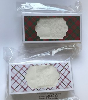 Wrapped in Plaid Suite, created by Nadine Stolt, www.dazzledbystamping.com