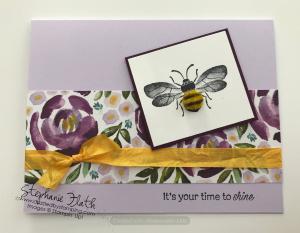 Honey Bee, Daisy Lane, Best Dressed DSP, www.dazzledbystamping.com