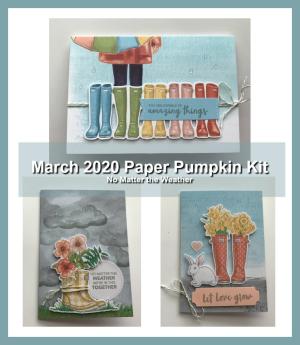 March 2020 Paper Pumpkin Kit.No Matter the Weather